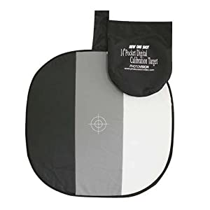 PhotoVision 14 Inch Pocket One Shot Digital Calibration Target with DVD, Collapsible Disc Exposure Aid for Digital Cameras