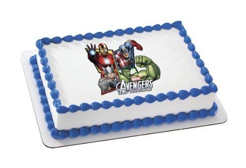 AVENGERS ASSEMBLE MARVEL SUPERHEROES Edible Image FROSTING SHEET Cake Topper