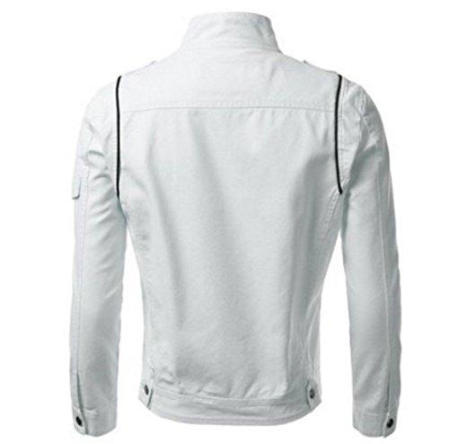 Zayn Leather Men's Leather Jacket (393_WLJ_White_Large)