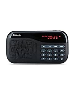Portronics POR-141 Plugs Portable Speaker with FM & MicroSD card Support (Black)
