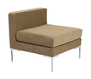Armless Sofa in Brown
