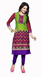 RR Fashion Women's Cotton KURTI (RRF3001_MULTICOLOUR)