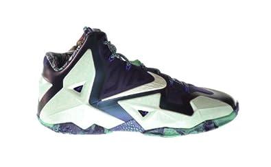 Buy Nike Lebron XI All Star Gator King Mens Basketball Shoes Cashmere Green Glow-Purple 647780-735 by Nike