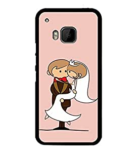 Married Couple Clipart 2D Hard Polycarbonate Designer Back Case Cover for HTC One M9 :: HTC One M9S :: HTC M9 :: HTC One Hima