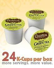 Celestial Seasonings DECAF Green Tea 24 K-Cups Pack of 4 for Keurig Brewing Systems