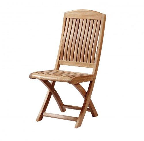 """Eleganter Teak Klappstuhl aus der Premium-Serie """"Brighton"""" gefertigt aus Teakholz ohne Armlehne/ perfekte ergonomische Rücken- und Sitzfläche/ Sessel/ Stuhl/ Gartenstuhl/ Gartenklappstuhl/ Premium- Qualität jetzt kaufen"""