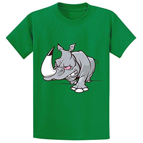 Moonflow Evil Cartoon Rhino T Shirt Kids Green