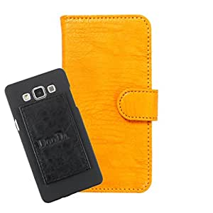 DooDa PU Leather Wallet Flip Case Cover With Card & ID Slots For Intex Aqua 4G Plus - Back Cover Not Included Peel And Paste