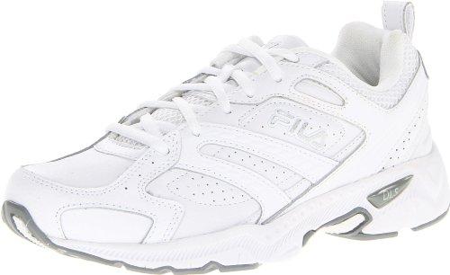 Fila Women's Capture Running Shoe,White/White/Metallic Silver,8 M US