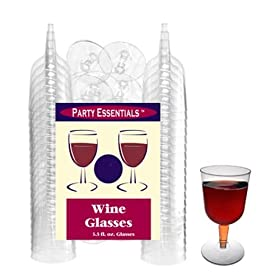 Northwest+Enterprises NorthWest Enterprises WINE5-10/40 Partyware Plastic 2-Piece Wine Glass, 5.5-Ounce Capacity, Clear (10 Packs of 40) at Sears.com