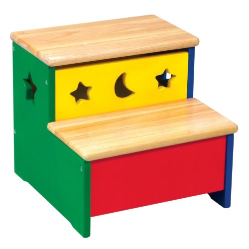Guidecraft Moon and Stars Storage Step Up Stool