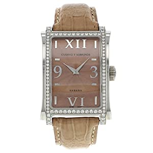 Cuervo Y Sobrinos Habana Prominente A1010.1COGO-S2 Original Diamonds Men's Watch