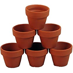 "10 - 3"" x 2 1/2"" Clay Pots - Great for Plants and Crafts"