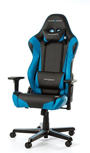 DX Racer Racing Series Gaming Chair - Blue and Black - OH/RF0/NB