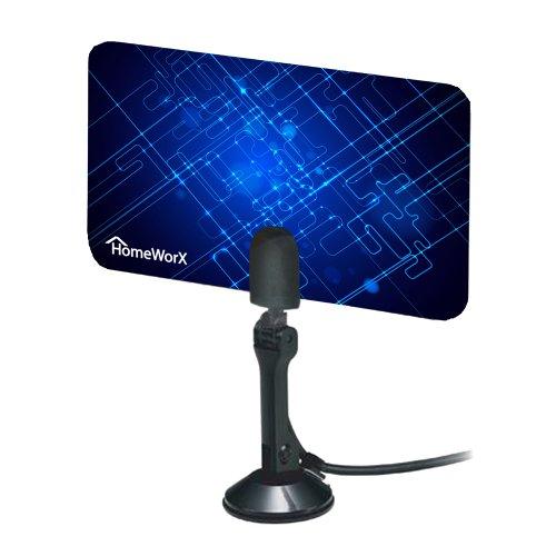 homeworx hdtv digital flat antenna uhf vhf hw110an