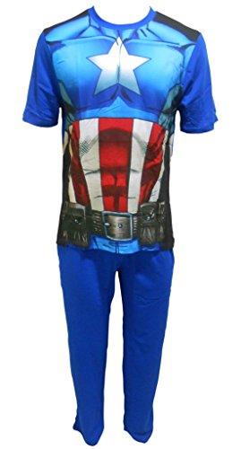 Marvel Avengers Captain America Uomo pigiama Set DiUomoioni: L