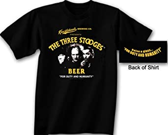 Three 3 Stooges Knucklehead Brewing Company T-shirt, Large
