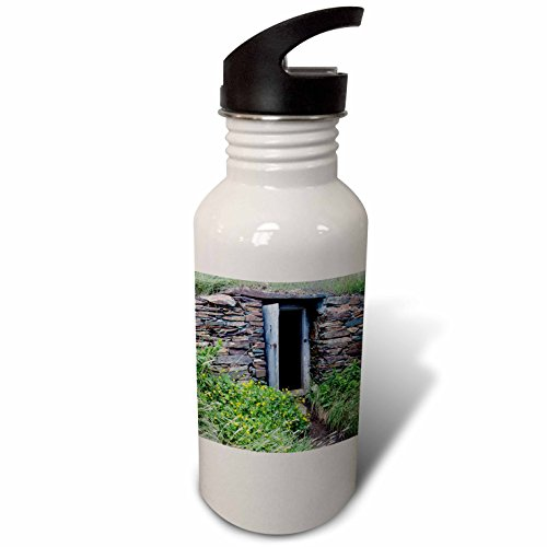 3dRose Danita Delimont - Canada - North America, Canada, root cellar in Elliston, the root cellar capital of the world. - Flip Straw 21oz Water Bottle (wb_226910_2) (Roots Canada Backpack compare prices)