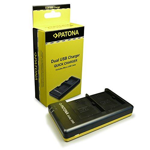 PATONA caricatore doppio LP-E6   LPE6 include Cavo Micro-USB per Canon EOS-70D   60D   60Da   7D   6D   5D   Mark II   Mark III