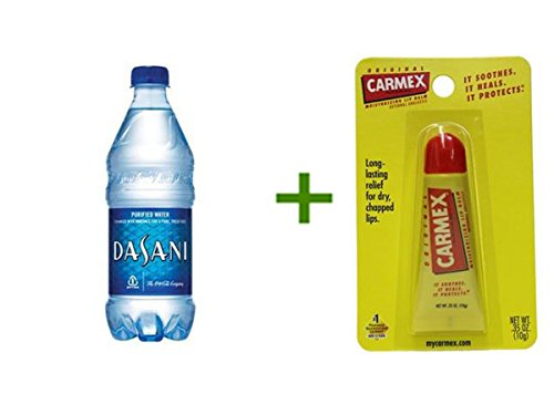 DASANI PURIFIED WATER 24/20oz, (2 PACK), CARMEX MOISTURIZING LIP BALM Tubes 1ct (Dasani Water 20 Oz compare prices)