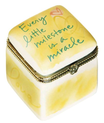 C.R. Gibson Precious Miracle Ceramic Trinket Keepsake Box (Discontinued by Manufacturer)