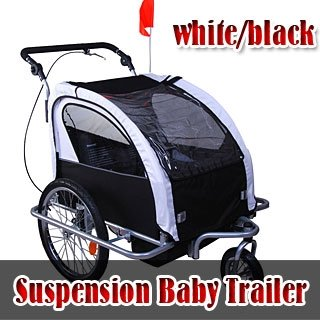 Frugah 2 in 1 Baby Bike Trailer/stroller Black