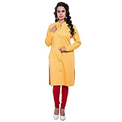 Diva Boutique Women's Woollen Kurti (ykw-01_Yellow_Medium)