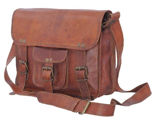 Fantastic Deal! Komal's Passion Leather 11 Inch Classic Leather Ipad Messenger Satchel Tablet Bag