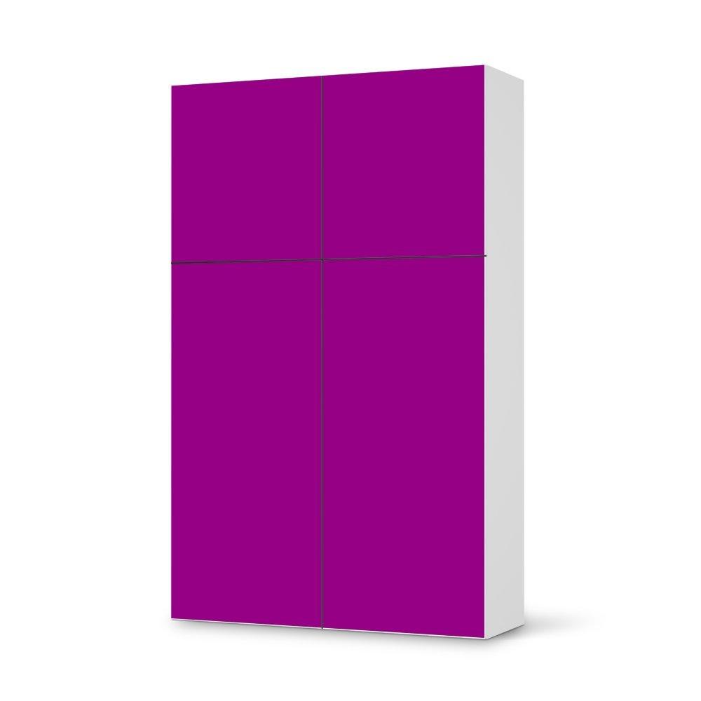 Folie IKEA Besta Schrank Hochkant 4 Türen (2+2) / Design Aufkleber Leuchtfarbe 5 / Dekorationselement jetzt kaufen