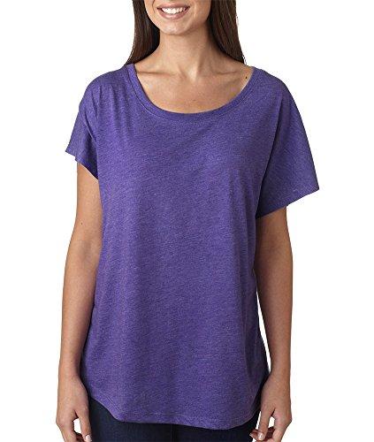 Next Level Womens Tri-Blend Dolman 6760-Purple Rush-Large front-530966