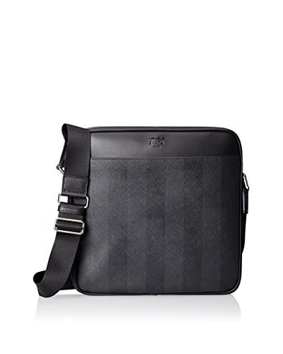 Fendi Men's Logo Cross-Body, Grey Black Pall