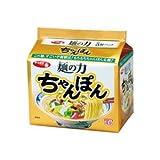 サンヨー食品 サッポロ一番 麺の力 ちゃんぽん 5個パック 1ケース(6個入)  合計30袋