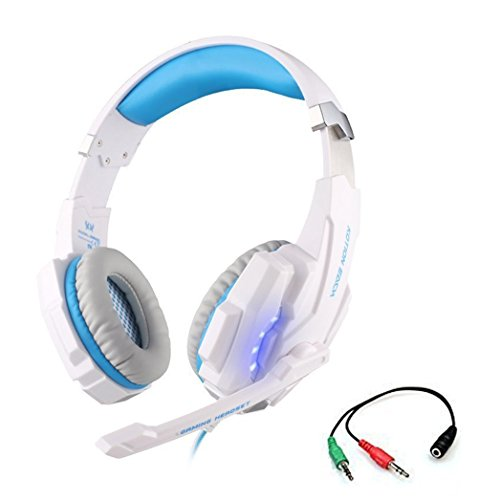 Game Headset, KOTION EACH G9000 3.5mm LED Light Gaming Headset For PlayStation 4 PS4 With Microphone For Tablet...