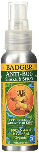 Badger Balm Anti Bug Shake & Spray Travel- 2.7 oz
