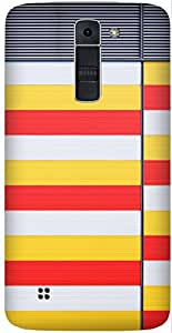 COntainer Colour Yellow Printed Back Cover Case For LG K7