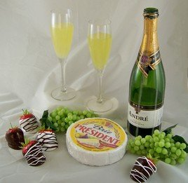 Realistic Fake Replica Group of Champagne, Cheese & Food! (Fake Cheese For Display compare prices)