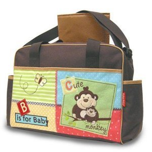 Fisher Price Luv U Zoo Diaper Tote Bag With Changing Pad