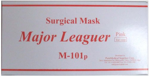 Surgical masks major leaguer M-101p pink medical influenza infection prevention