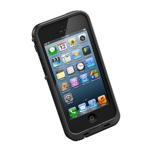 日本正規代理店品・保証付LIFEPROOF Apple au softbank iPhone5用防水防塵耐衝撃ケース LifeProof fre iPhone5 ブラック 1301-'01