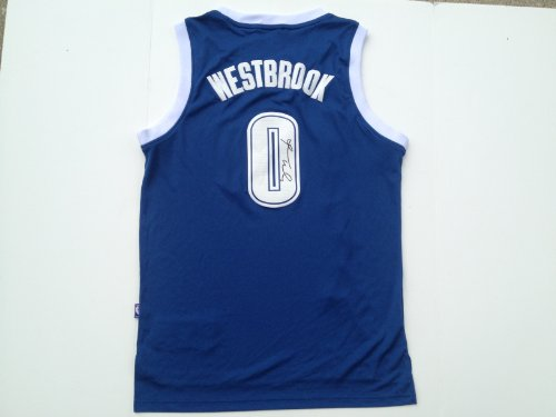 Oklahoma City Thunder RUSSELL WESTBROOK Signed Autographed Jersey COA at Amazon.com