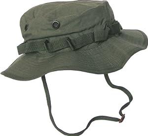 Boonie Hat Chapeau Brousse Jungle US Army Commando Trooper - Coloris Kaki - Taille Médium - Airsoft - Paintball - Chasse - Pêche - Randonnée - Outdoor