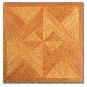 45 Pieces 12X12 Vinyl Stick-On Tiles 2 Tone Oak Parquet With Design Self Adhesive Flooring RT6082