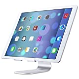 iPad Pro Stand, OMOTON® Multi-Angle Aluminum Stand for Tablet, with Portable Adjustable Charging Dock for iPad Pro, iPad Air 2, Samsung Tab S2 etc, Solid Durable Holder and Minimalist Design, Silver
