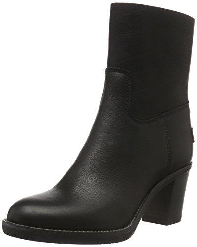 Shabbies AmsterdamShabbies 16cm zipbooty 6cm heel rubber matching sole upper Lee last - Stivali bassi con imbottitura leggera Donna , Nero (Nero (nero)), 40 EU