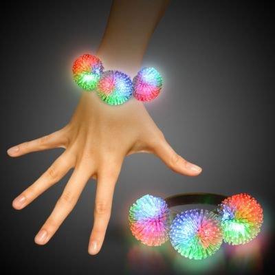 Windy City Novelties Multicolor LED Porcupine Bracelet