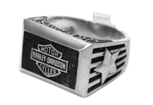 Harley-Davidson Mens .925 Silver American Heritage Square Ring by Mod Jewelry (12)