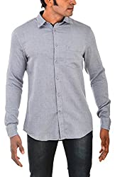 Indipulse Men's Casual Shirt (IF116006391, Grey, XL)
