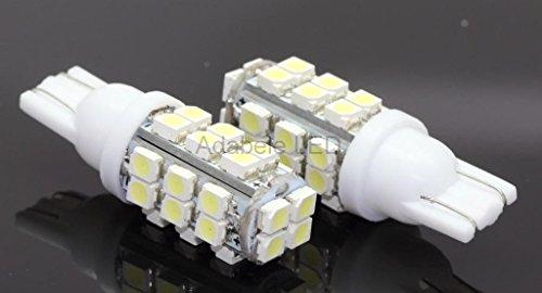 2 Pc 194 5K 1210 Bright White 28 Led Car Bulb Miniature Wedge Base W5W T10 L30 @ 147, 152, 158, 159, 161, 168, 184, 192, 193, 194 2841 Compare To Sylvania Osram Phillips
