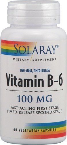 Solaray - vitamine B-6 Temps de sortie, 100 mg,