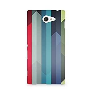 TAZindia Designer Printed Hard Back Mobile Case Cover For Sony Xperia M2